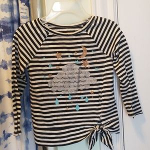 Sparkly cloud striped long sleeve